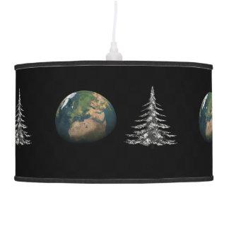 Luminária De Teto Natal do mundo e árvore de abeto