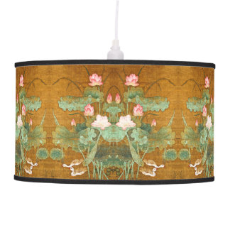 Luminária De Teto O asiático Lotus Waterlily floresce a lâmpada dos