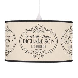 Luminária De Teto O monograma elegante do casamento escolhe sua