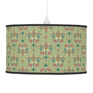 Luminária De Teto Ornamento asteca tribal étnico do vintage