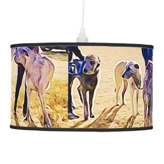 Luminária De Teto Os Wolfhounds de DigiDog nas planícies