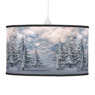 Luminária De Teto Paisagem dos abeto do inverno
