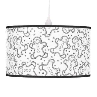 Luminária De Teto Pão-de-espécie preto e branco bonitos do Natal