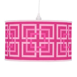 Luminária De Teto Quadrados, fúcsia e luz geométricos modernos -