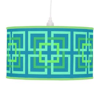 Luminária De Teto Quadrados geométricos modernos, Aqua, cerceta,