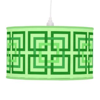 Luminária De Teto Quadrados, verde da hortelã e esmeralda