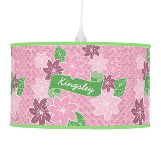 Luminária De Teto Quimono cor-de-rosa de Japão da bandeira do verde