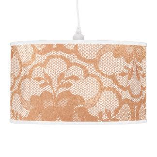 Luminária De Teto Real luxuoso branco Glam do laço cor-de-rosa do