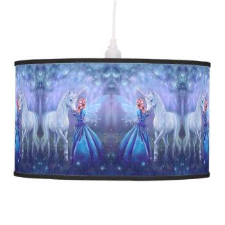 Luminária De Teto Rhiannon - lâmpada do unicórnio e de pendente da