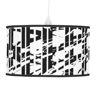 Luminária De Teto Riscas preto e branco afligidas