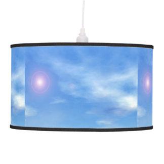 Luminária De Teto Sun no fundo do céu - 3D rendem
