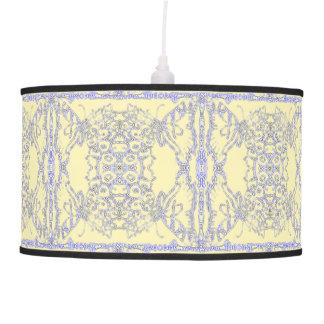 Luminária De Teto Swallowtails azul e de creme modelado
