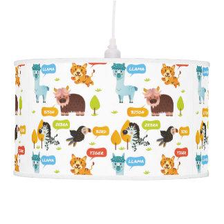 Luminária De Teto Teste padrão bonito dos miúdos dos animais
