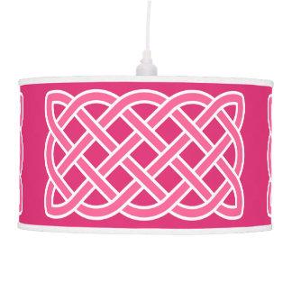 Luminária De Teto Teste padrão de nó celta, cor-de-rosa fúcsia e