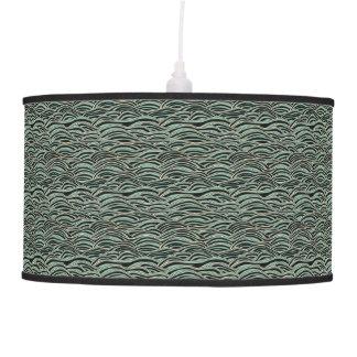 Luminária De Teto Teste padrão de ondas abstrato verde. Textura do
