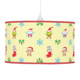 Luminária De Teto Teste padrão do Natal do rato, do boneco de neve,