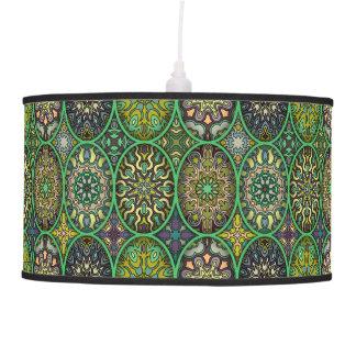 Luminária De Teto Teste padrão floral étnico abstrato colorido da