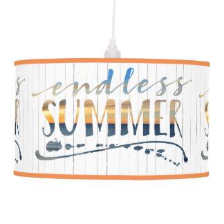 Luminária De Teto Tipografia tropical do por do sol das férias do