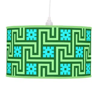Luminária De Teto Verde grego da chave, da turquesa e de jade de