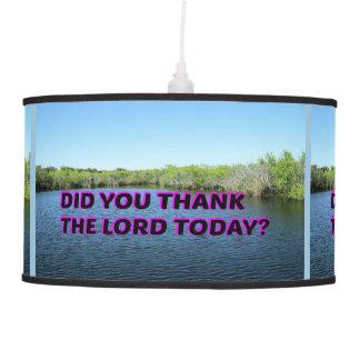 Luminária De Teto Você agradeceu ao senhor Hoje?