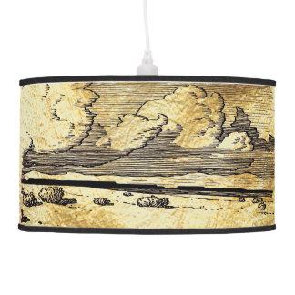 Luminária De Teto Woodcut da pradaria