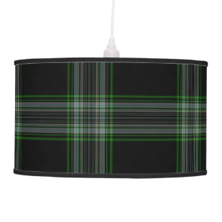 Luminária De Teto Xadrez de Tartan gigante verde cinzenta preta