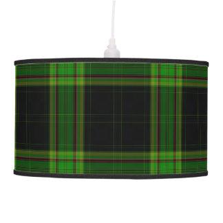 Luminária De Teto Xadrez de Tartan gigante vermelha verde preta