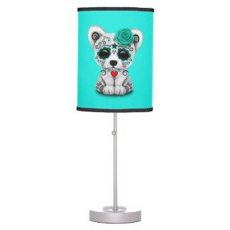 Luminária Dia azul do cão de filhote de cachorro inoperante