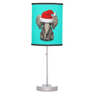 Luminária Elefante do bebê que veste um chapéu do papai noel