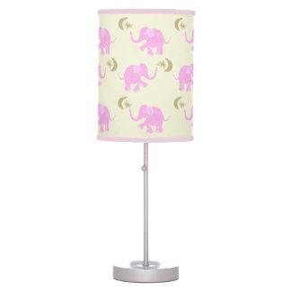 Luminária Elefantes cor-de-rosa bonitos do bebê com estrelas