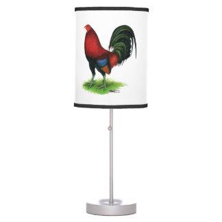Luminária Gamecock:  Escuro - vermelho