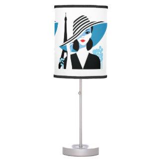 Luminária Ilustração à moda francesa do chique da forma da