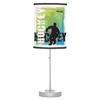 Luminária Jogador de hóquei abstrato azul e verde