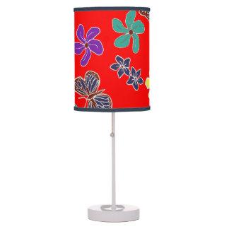 Luminária Luz floral vermelha da mesa de borboletas