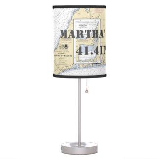 Luminária Mesa da carta do Martha's Vineyard da latitude &