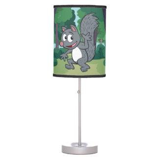 Luminária Ondulação cinzenta do esquilo do rick | da guarda