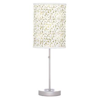 Luminária Ouro e impressão animal branco