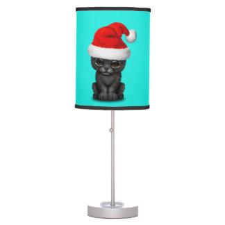 Luminária Pantera preta bonito Cub que veste um chapéu do