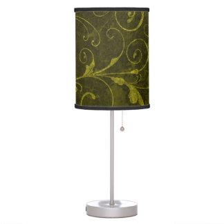 Luminária Papel de parede verde do vintage