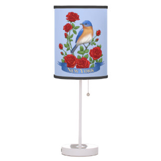 Luminária Pássaro e flor de Estados de Nova Iorque