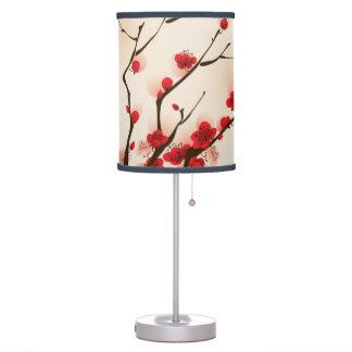 Luminária Pintura asiática do estilo, flor da ameixa no