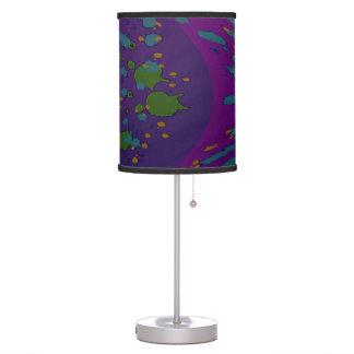 Luminária Pop art roxo do abstrato do verde