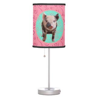 Luminária Porco bonito - redemoinhos de turquesa & de melão