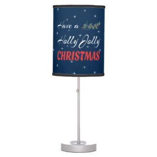 Luminária Tenha um Natal alegre do azevinho