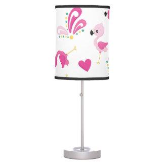 Luminária Teste padrão cor-de-rosa lunático do flamingo