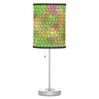 Luminária Teste padrão de mosaico verde do vitral do