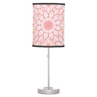 Luminária Teste padrão geométrico da mandala floral rosado