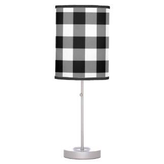 Luminária Teste padrão preto e branco do guingão