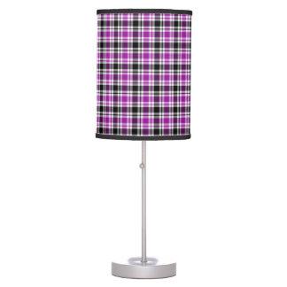 Luminária Xadrez roxa, preto e branco