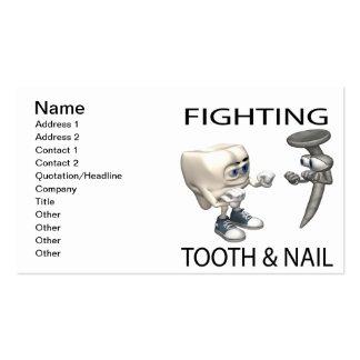 Luta com unhas e dentes cartão de visita